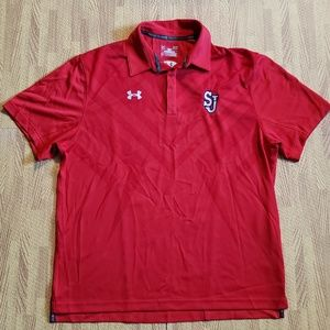St. Johns Red Storm Under Armour Golf Polo Shirt L